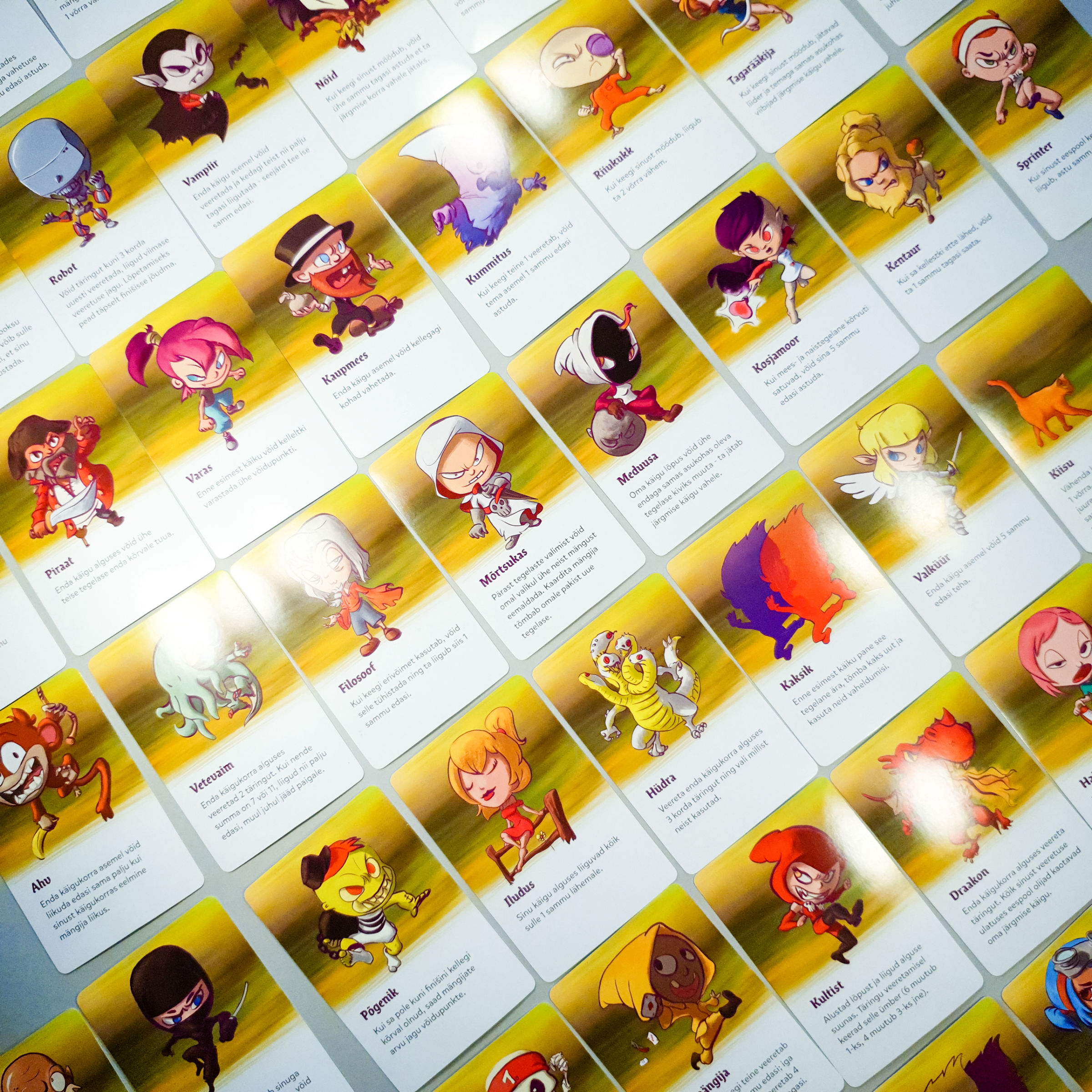 Grid of 20 character cards